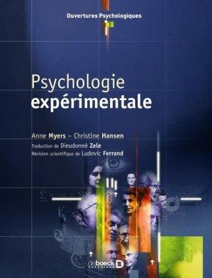 Psychologie expérimentale - de boeck superieur - 9782804155360 -