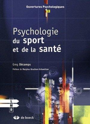 Psychologie du sport et de la santé - de boeck superieur - 9782804163839 -
