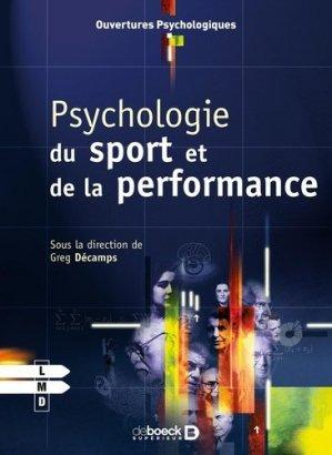 Psychologie du sport et de la performance - de boeck superieur - 9782804169282 -