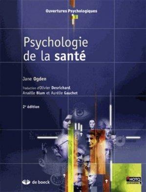 Psychologie de la santé - de boeck superieur - 9782804182427 -