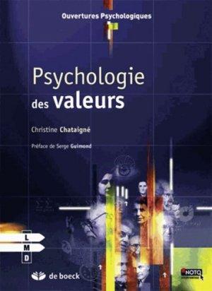 Psychologie des valeurs - de boeck superieur - 9782804188993 -