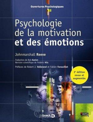 Psychologie de la motivation et des émotions - de boeck superieur - 9782807302631