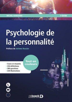 Psychologie de la personnalité - de boeck superieur - 9782807305564