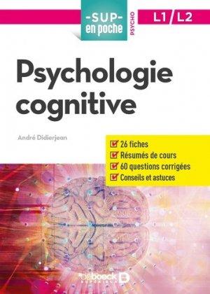 Psychologie cognitive - de boeck - 9782807322349 -