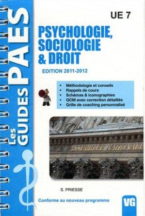 Psychologie - Sociologie & Droit  UE7 - vernazobres grego - 9782818302927 -