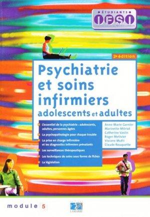 Psychiatrie et soins infirmiers adolescents et adultes - lamarre - 9782850309274