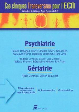 Psychiatrie - Gériatrie - pradel - 9782913996700 -