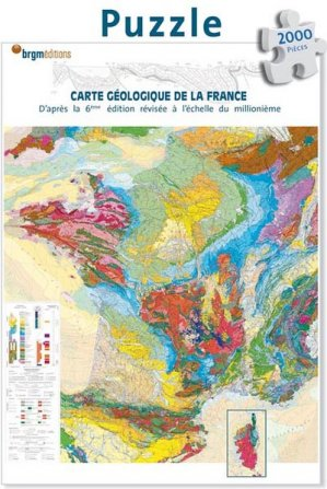Puzzle carte géologique de la France - brgm - 9782715926370 -