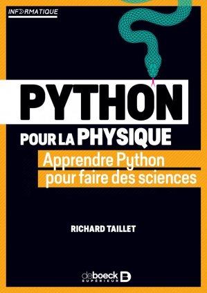 Python pour la physique - de boeck supérieur - 9782807328907 -