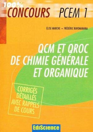 QCM et QROC de chimie générale et organique - ediscience - 9782100502332 -