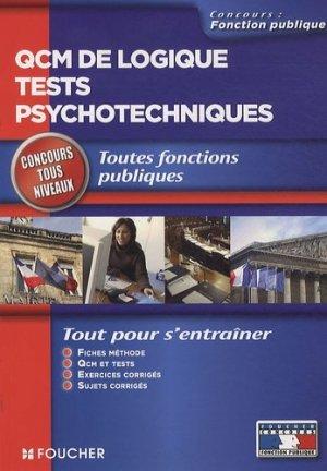 QCM de logique tests psychotechniques - Foucher - 9782216112586 -