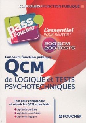 QCM de logique et tests psychotechniques - Foucher - 9782216114672 -