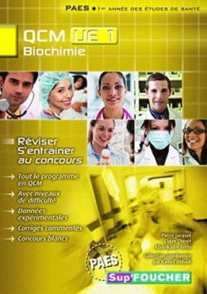 QCM UE1 Biochimie - foucher - 9782216118281