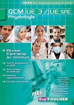 QCM UE3 Physiologie des appareils et systèmes - foucher - 9782216121311 -