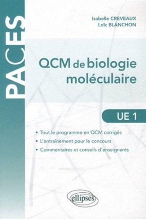 QCM de biologie moléculaire UE1 - ellipses - 9782729864835 -