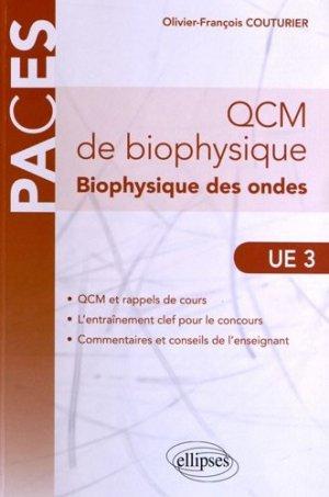Qcm De Biophysique Biophysique Des Ondes Ue 3 Paces Ellipses