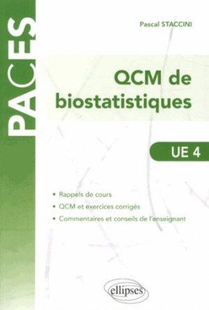 QCM de biostatistiques - ellipses - 9782729883652