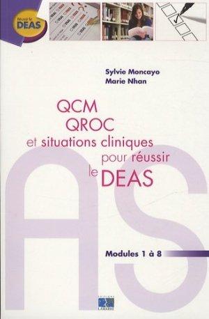 QCM QROC et situations cliniques pour réussir le DEAS - lamarre - 9782757306819 -