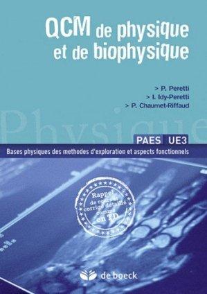 QCM de physique et de biophysique - de boeck superieur - 9782804166625