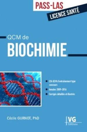 QCM de biochimie - vernazobres grego - 9782818317969 -