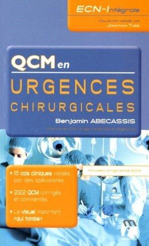 QCM en Urgences chirurgicales - medicilline - 9782915220728 -
