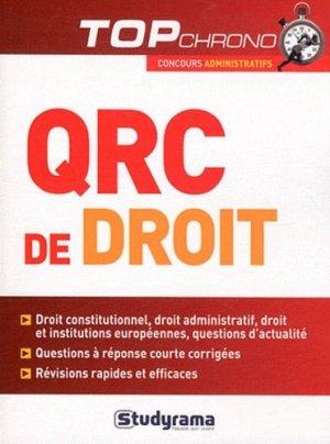 QRC de droit - Studyrama - 9782759015665 - Pilli ecn, pilly 2020, pilly 2021, pilly feuilleter, pilliconsulter, pilly 27ème édition, pilly 28ème édition, livre ecn