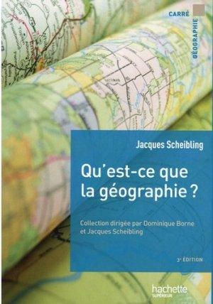 Qu'est-ce que la géographie ? - hachette - 9782017117056 -