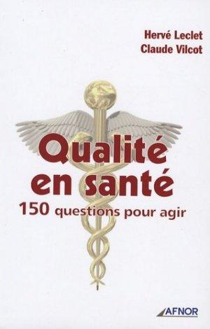 Qualité en santé  - afnor - 9782124193158 -