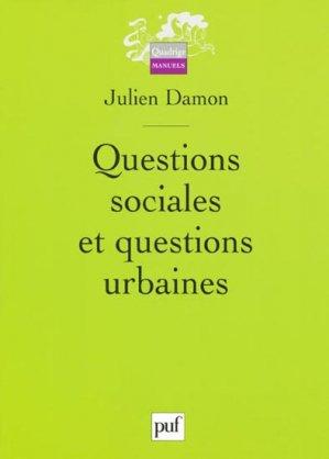 Questions sociales et questions urbaines - puf - presses universitaires de france - 9782130581352 -