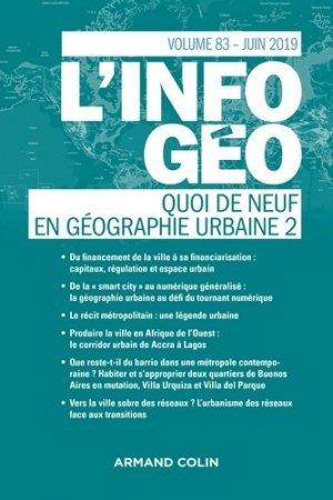 Quoi de neuf en géographie urbaine 2 - Armand Colin - 9782200932534 -