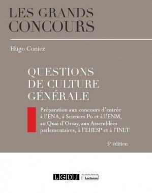 Questions de culture générale. 5e édition - LGDJ - 9782275066356 -