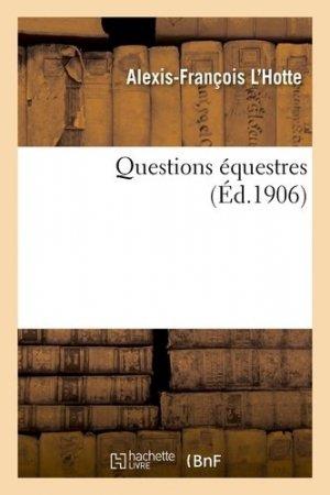 Questions équestres - hachette/bnf - 9782329269160 -