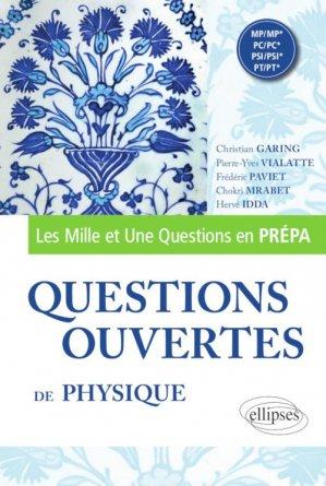 Questions ouvertes de Physique - ellipses - 9782340036208 -