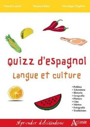 Quizz d'espagnol - atlande - 9782350305189 -