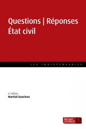 Questions Réponses Etat civil. 6e édition - berger levrault - 9782701320618 -