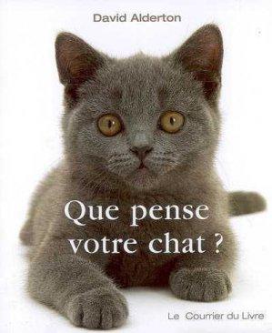 Que pense votre chat? - le courrier du livre - 9782702906200 -