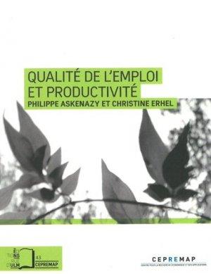 Qualité de l'emploi et productivité - Rue d'Ulm - 9782728805716 -