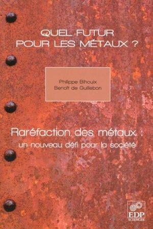 Quel futur pour les métaux ? - edp sciences - 9782759805495 -