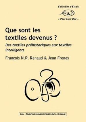 Que sont les textiles devenus ? - Presses Universitaires de Nancy - 9782814301566 -