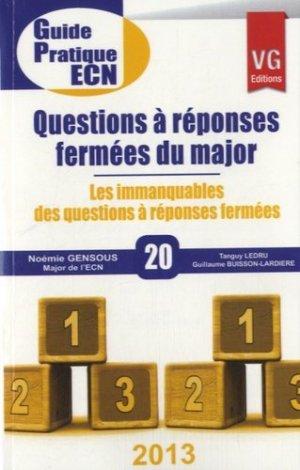 Questions à réponses fermées du major - vernazobres grego - 9782818308851 -