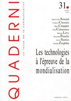 Quaderni N° 31 Hiver 1997 : Les technologies à l'épreuve de la mondialisation - Sapientia - 9782840090311 -
