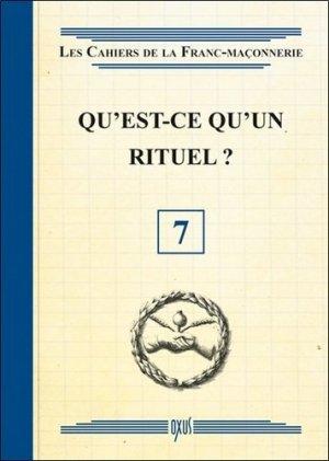 Qu'est-ce qu'un rituel ? -  oxus editions - 9782848981475 -