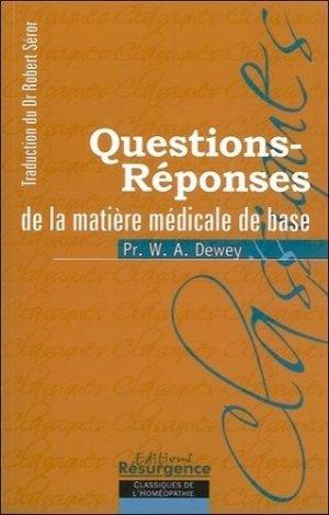 Questions-Réponses de la Matière médicale de base - marco pietteur - 9782874340093 -