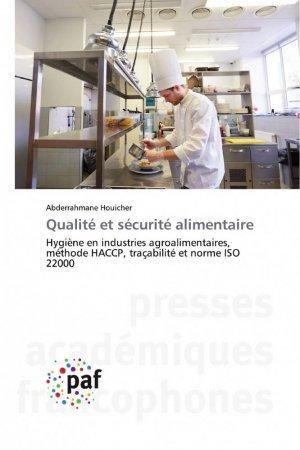 Qualité et sécurité alimentaire - presses académiques francophones - 9783838145112 -