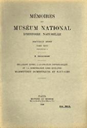 Relations entre l'adaptation physiologique et la morphologie chez quelques mammifères domestiques et sauvages - museum national d'histoire naturelle - mnhn - 2223605763714 -