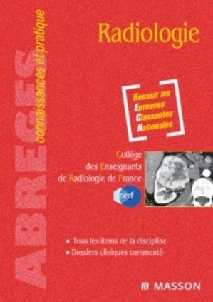 Radiologie - elsevier / masson - 9782294082924 -