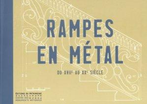 Rampes en métal - du patrimoine - 9782757702598 -
