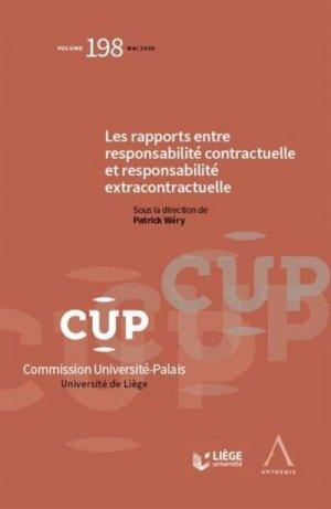 Rapports entre responsabilité contractuelle et responsabilité extracontractuelle - Anthemis - 9782807206618 -