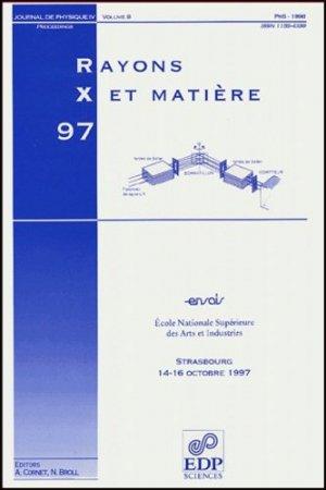 Rayons X et Matière - EDP Sciences - 9782868833518 -