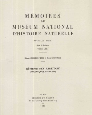 Révision des Tapetinae (Mollusques bivalves) - museum national d'histoire naturelle - 2223605758260 -